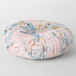 Pinky, Sunny Boho Birds / Pink, Blue, Yellow Floor Pillow