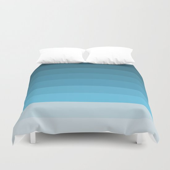 Blue Lagoon stripes pattern Duvet Cover
