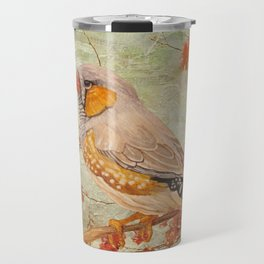 Zebra Finch Among Almond Trees Travel Mug