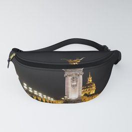 Les Invalides At Night Fanny Pack