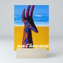Air Africa - 1960s Vintage Travel Poster Mini Art Print