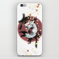 okami iPhone & iPod Skins featuring Okami Amaterasu by @Milre_art