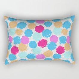 Rainbow Spots Circle Pattern Rectangular Pillow