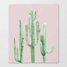 Three Amigos Green + Pink Canvas Print