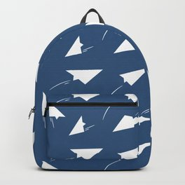 Paper Airplane Pattern Paper Decoration Backpack