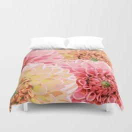Big pastel flowers Duvet Cover