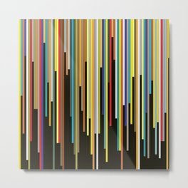 Night's End - Abstract, Geometric Color Stripes Metal Print