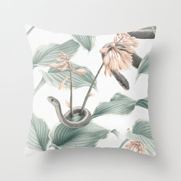 Hosta Garden Throw Pillow