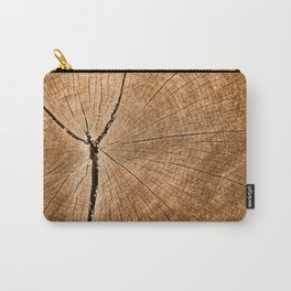 Cracked Wood Rings Texture Carry-All Pouch