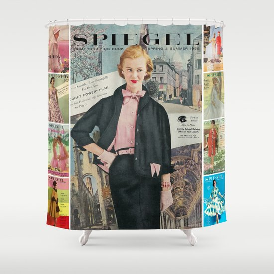 1955 Spring/Summer Catalog Cover Shower Curtain
