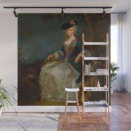 """Antoine Watteau """"Retour de Chasse: Portrait of Marie-Louise Sirois"""" Wall Mural"""