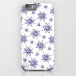 Symmetrical Shapes - Purple Burst iPhone Case