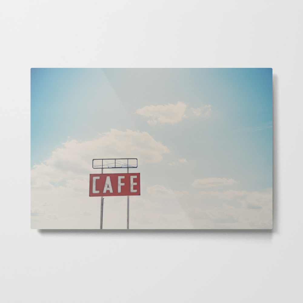 A Cafe Along Route 66 ... Metal Print by Oohprettyshiny MTP7540105
