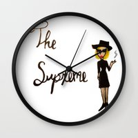 coven Wall Clocks featuring The Supreme by Dax M