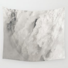 Cloudy Waterfalls Wall Tapestry