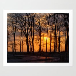 Sunset at Presque Isle State Park Art Print