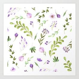 Purple Flower Field Art Print