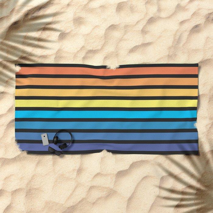 Stripe Sunset Beach Towel