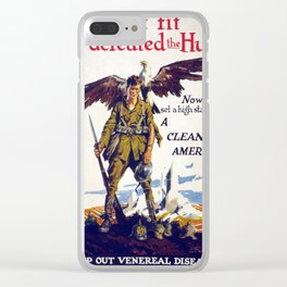 Vintage poster - Stamp Out Venereal Diseases Clear iPhone Case