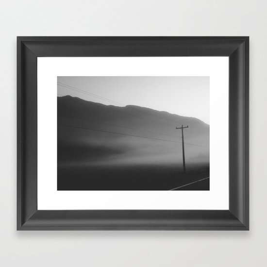 Morning Fog Framed Art Print