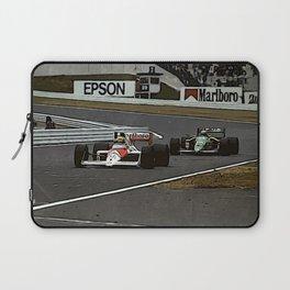 Ayrton Senna Formula 1 Battle Laptop Sleeve