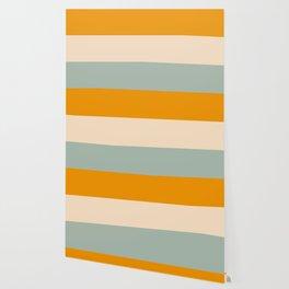 Heracles - Minimal Summer Retro Stripes Wallpaper