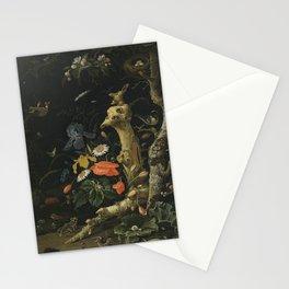 Abraham Mignon - Feldblumen und Vögel Stationery Cards