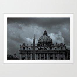 Eerie Basilica Art Print