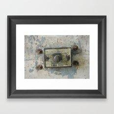 DUMBO Loft Door Lock-Brooklyn, New York Framed Art Print
