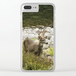 Handsome Deer on an Island No. 1 Clear iPhone Case