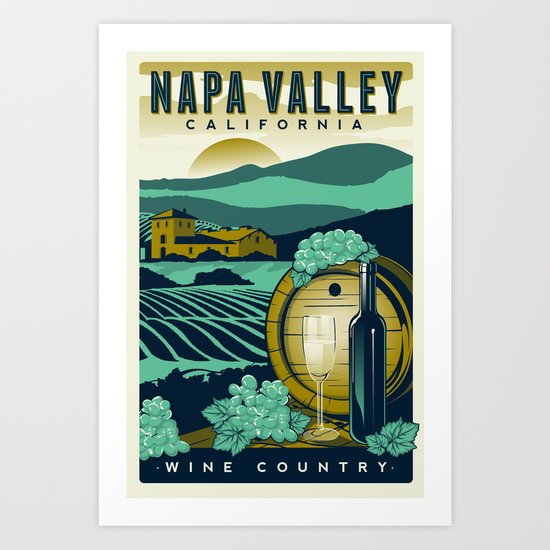 Napa Valley California Wine Country by retroprints