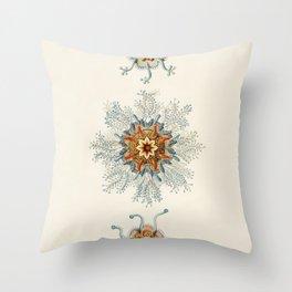 Vintage Jellyfishes Illustration Throw Pillow