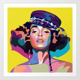 Janelle M Art Print
