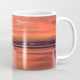 Sky on  Fire - At the Beach Coffee Mug