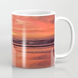 Sky on  Fire - At the Beach by Reay of Light Coffee Mug
