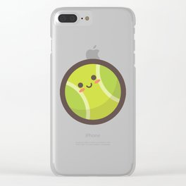 Tennis Ball Emoji Clear iPhone Case