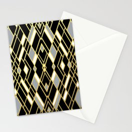 Art Deco Grey Gold Stationery Cards