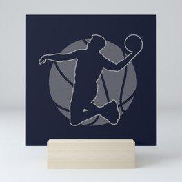 Basketball Player II (monochrome) Mini Art Print