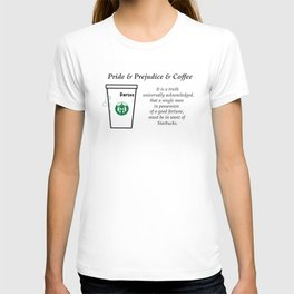 Pride and Prejudice and Coffee T-shirt