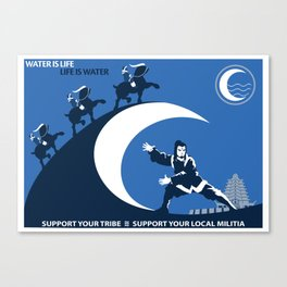 Support Your Local Water Tribe Canvas Print