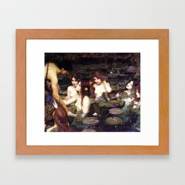 HYLAS AND THE NYMPHS - WATERHOUSE Framed Art Print