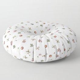Delicate Spring Botany Floor Pillow