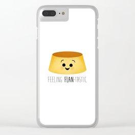Feeling Flan-tastic Clear iPhone Case