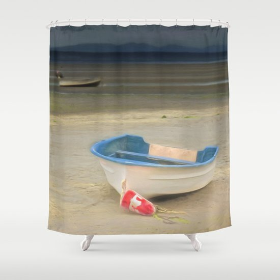White Storm Shower Curtain