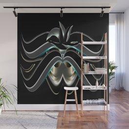 Abstrakt - Lilie schwarz grau Wall Mural