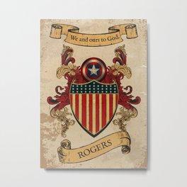 Rogers Coat of Arms  Metal Print