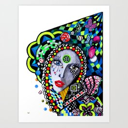 SERPENTINA COLORIDA Art Print