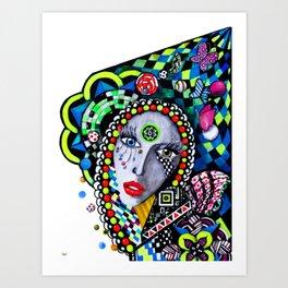 SERPENTINA COLORIDA Art Print