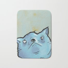 Sad Fat Cat Bath Mat