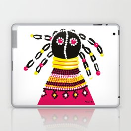 African doll in pink Laptop & iPad Skin